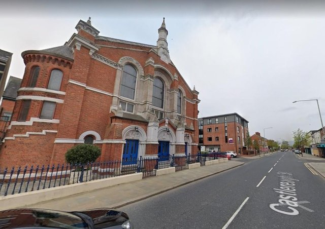 """Mountpottinger Presbyterian Church was the setting for a special presentation to the Reverend Robert Duff """"the esteemed minister of the church and teacher of the Sunday afternoon Bible classes"""", reported the News Letter this week in 1916.  Picture: Google"""