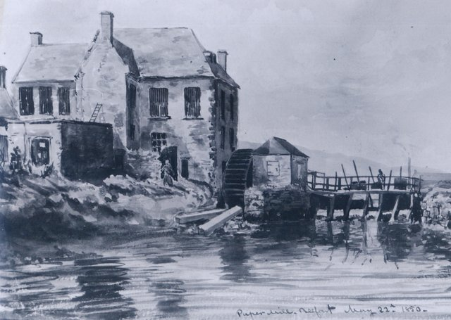 An old Belfast paper mill from circa 1850s. Picture: News Letter archives