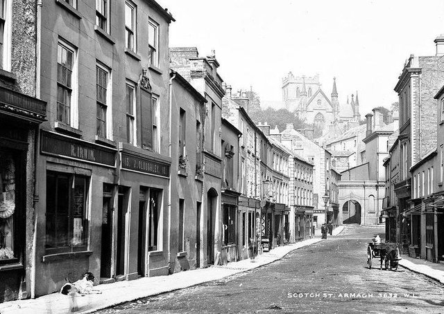 Scotch Street, Armagh, Co Armagh. NLI Ref: L_CAB_03632. Picture: National Library of Ireland