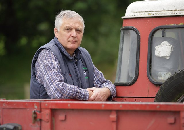 UFU Deputy President William Irvine on his County Armagh farm. Picture: Cliff Donaldson