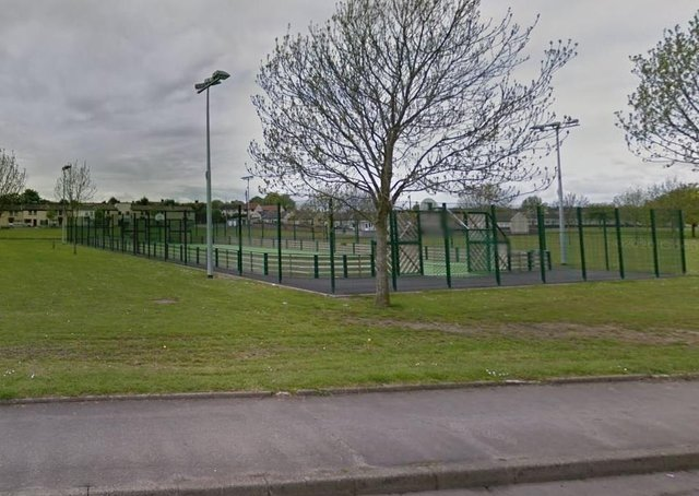 MUGA at Churchill Park Portadown. Photo courtesy of Google.