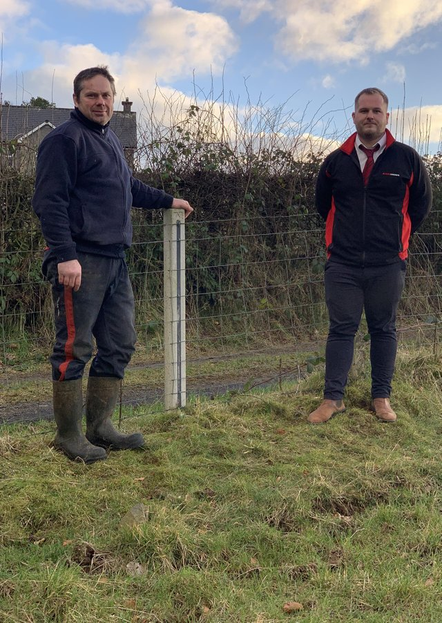 Stephen Kennedy and Jonny McKinney with Moore Concretes New Ox Post
