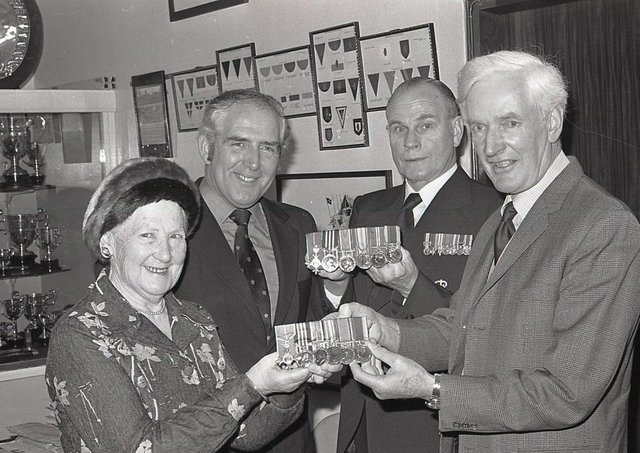 An Ulster hero's wartime medals which had been stolen 18 years previously were recovered by Scotland Yard in London reported the News in Letter February 1982. They were handed over to the Royal Inniskilling Fusiliers' Museum by the widow of the hero, Major George Shields. His prized Military Medal and the MBE were among his decorations stolen from a shop in 1964 when they were being remounted. He did not realise they had been replaced by copies when he collected them with new ribbons.  Six months later, when his daughter noticed his name was not engraved on the medals, that the alarm was raised and the story emerged. Then in 1980, before George died, the Fusiliers' museum at Enniskillen Castle received an inquiry from a man claiming to be a grandson of the hero, who wanted to know who the Military Medal was won. This alerted the regiment, which already knew about the switch, and soon afterwards Scotland Yard detectives called at an East End house in London and saw George's medal, which had been innocently bou