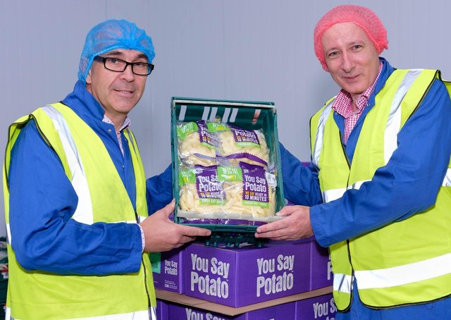 Wilson's Country managing director Lewis Cunningham (right) with company chairman Angus Wilson