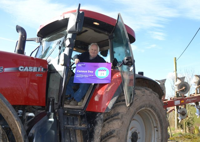 Local farmer John Hill reminds everyone in the farming community to complete their questionnaire by Census Day