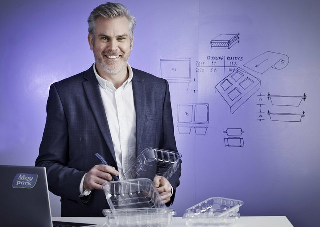 Moy Park has reduced plastic packaging by 10% in the past year as part of its †̃Remove, Reduce, Recycle and Researchâ€TM strategy.  Pictured is Matt Harris, Head of Packaging at Moy Park.