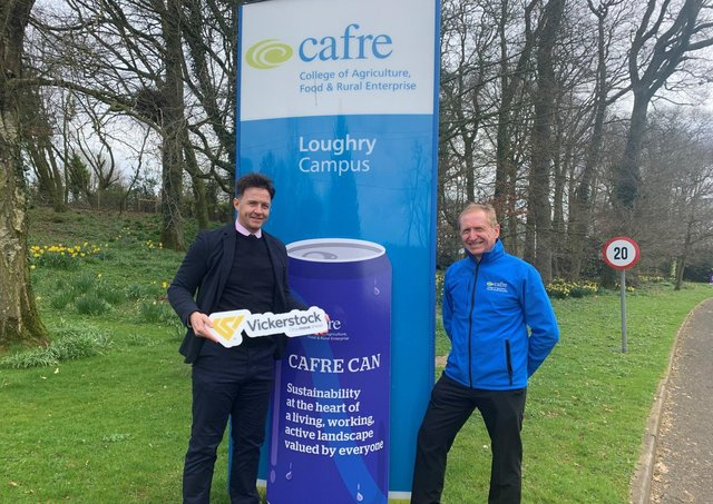 Vickerstock's specialist recruiter Paul Muir (left) and Ronald Gardner, Senior Packaging Technologist at CAFRE