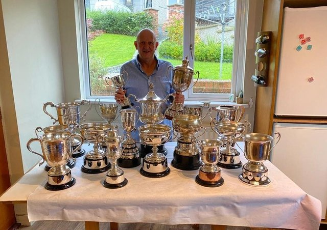 Ronnie Williamson - pictured proudly displaying his 2020 season awards