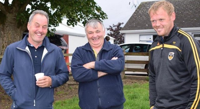 Tommy Feeney pictured with fellow Suffolk sheep breeders. Image courtesy of Suffolk Sheep Society South of Ireland