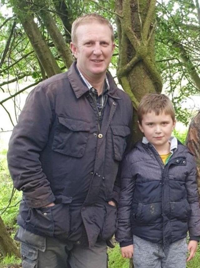 Derek Robinson and his son Ben.