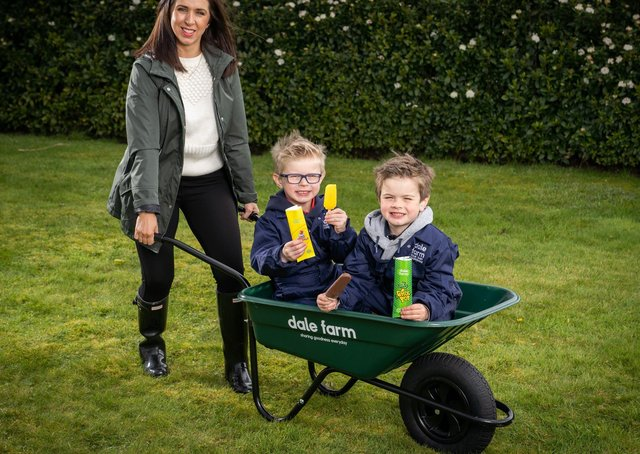 Influencer and mum Caroline O'Neill with her sons Pearse (age 6) and Darragh (age 5),
