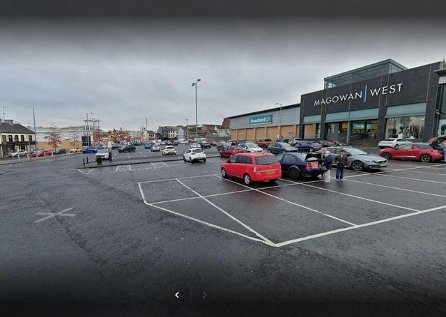 Magowan West Car Park, Portadown. Photo courtesy of Google.