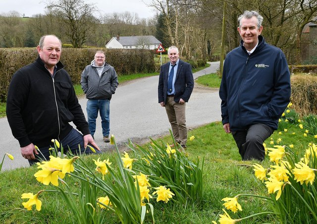 Minister Poots during a recent visit to the area