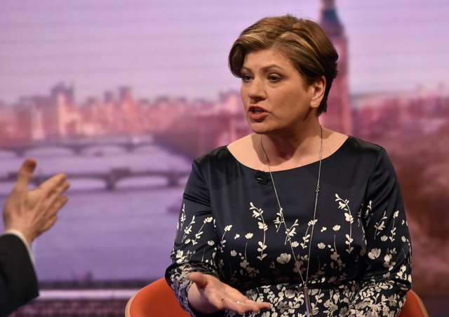 """For use in UK, Ireland or Benelux countries only EDITORIAL USE ONLYHandout photo issued by the BBC of Shadow foreign secretary Emily Thornberry appearing on the BBC One current affairs programme, The Andrew Marr Show. PRESS ASSOCIATION Photo. Issue date: Sunday November 27, 2016. Thornberry has said it is """"quite difficult"""" to get past allegations of brutality made against Fidel Castro after Labour leader Jeremy Corbyn praised the revolutionary leader for his """"heroism"""". See PA story POLITICS Castro. Photo credit should read: Jeff Overs/BBC/PA WireNOTE TO EDITORS: Not for use more than 21 days after issue. You may use this picture without charge only for the purpose of publicising or reporting on current BBC programming, personnel or other BBC output or activity within 21 days of issue. Any use after that time MUST be cleared through BBC Picture Publicity. Please credit the image to the BBC and any named photographer or independent programme maker, as described in the caption."""