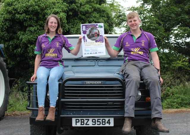 Newtownards YFC secretary Rebecca McBratney and assistant secretary Isaac Moore hope for a big turnout at the club's annual road run on June 20, 2021