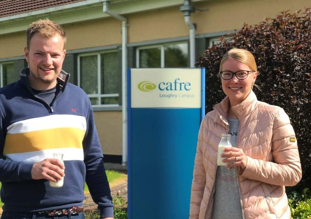 Brother and sister, Megan Kirkland and Caleb Howard who have recently completed Level 2 Award in Understanding HACCP (RSPH) with CAFRE, Loughry Campus.