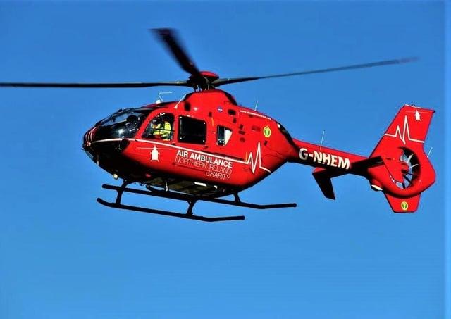Charity air ambulance. McAuley Multimedia image
