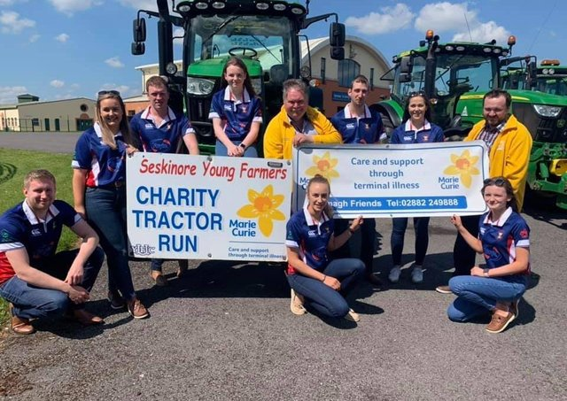 Recently Seskinore YFC held their annual tractor run with all proceeds going to Marie Curie and all raffle proceeds going to Jemma McGowan to help her get to Mexico for vital treatment