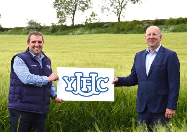 Peter Alexander, YFCU president, and Tony McIvor, fertiliser sales manager, Gouldings NI