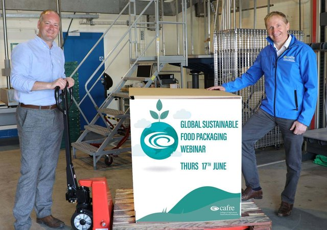 Iain Joannides, Client Manager of Drink, Print and Packaging at Invest Northern Ireland and Ron Gardiner, Senior Packaging Technologist at CAFRE encourage you to join the 'Global challenges and initiatives for more sustainable food packaging' webinar on Thursday 17 June at 10am.