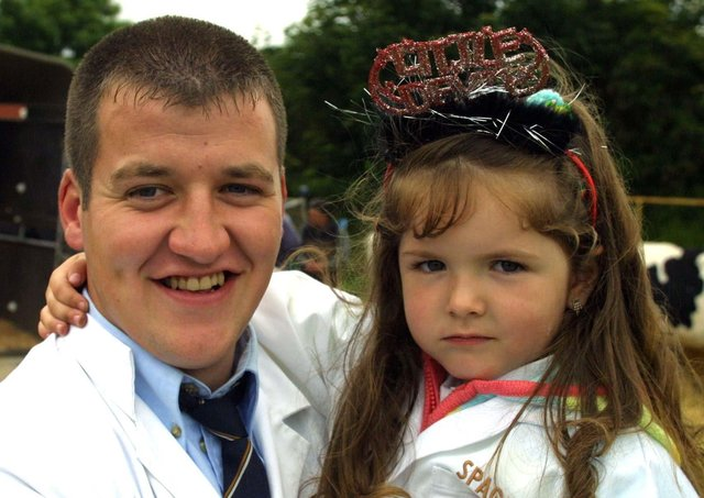 PAUL CAMPBELL FROM CARNLOUGH WITH HIS DAUGHTER  KIERA AT THE SALEPIC KEVIN MCAULEY
