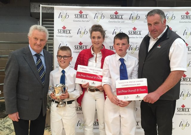 NI Holstein Young Breeders Club B team members James Gregg, Jessica Hall and James Patton, were placed first in the Field to Foto section at Holstein UK's  National Competitions Day in South Wales.