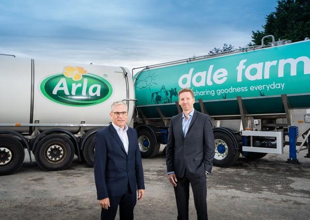 Erik Vesløv, senior director, Technology and Process, Arla Foods Ingredients and Chris McAlinden, Group Operations Director, Dale Farm