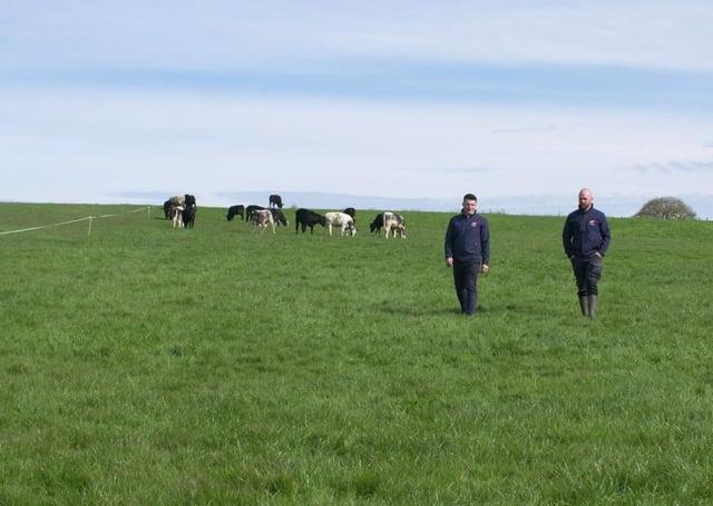 Stuart Cromie ABP & Conor O'Neill on O'Neill's farm