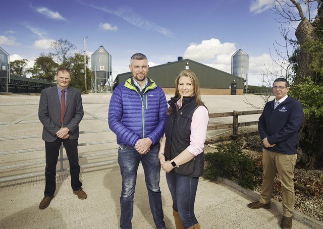 Leading poultry producer Moy Park is continuing its support for Bank of Ireland Open Farm Weekend as the initiative gears up for its 10th anniversary virtual event next month. Pictured on Murrays farm in Aghalee, County Armagh are Gareth and Christina Murray who are participating in this year's Bank of Ireland Virtual Farm Weekend (Friday July 30-Sunday 1 August) David Brown, deputy president Ulster Farmers' Union, and David Lawrence, Area Manager for Moy Park. More information at www.openfarmweekend.com