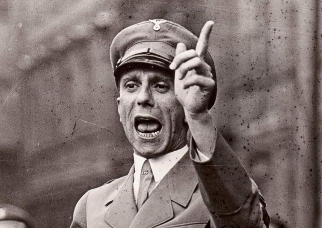 Nazi Propaganda Minister Joseph Goebbels as seen The Goebbels Experiment, a film by