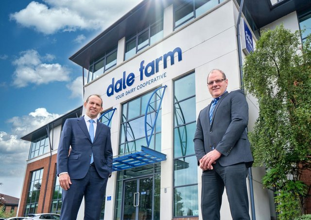 Dale Farm Group Chief Executive Nick Whelan and Chairman Fred Allen