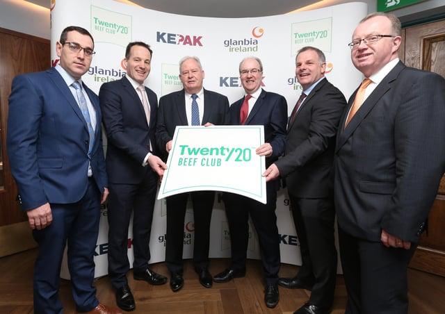 Twenty20 Beef Club L-R Brian Hanafin, Glanbia Ireland; Mick O'Dowd, Kepak; Martin Keane, Glanbia Ireland; Seán Molloy, Glanbia Ireland; Tom Finn, Kepak and Martin Ryan, Glanbia Ireland.