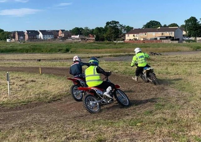 Young people taking part in a Motorcycle Awareness Project, courtesy of the PSNI in Craigavon this week.