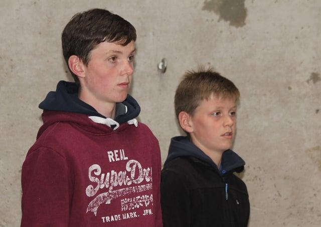 NI Holstein Young Breedersâ€TM Club members John and David Hamilton, Bangor.