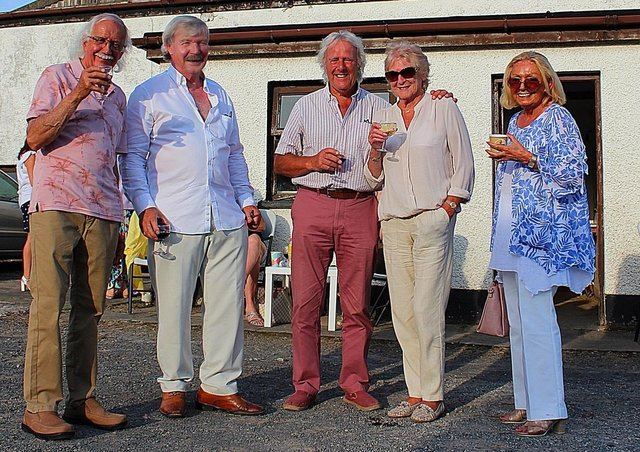 From left: Robin Patterson, Michael Andrews, Derek and Frankie Spenser and Dilia Andrews at the Saintfield Horse Show Launch