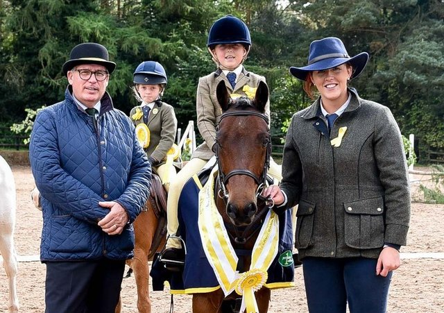 Taylor Lee Doyle riding Jack-A-Roo, mini working hunter champion. Picture: Tori O'Connor