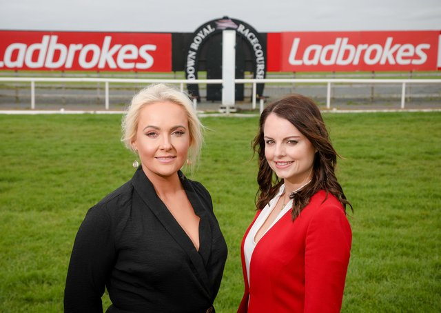 Pictured, left to right, is Emma Meehan, chief executive of Down Royal Racecourse and Nicola McGeady, head of PR at Ladbrokes