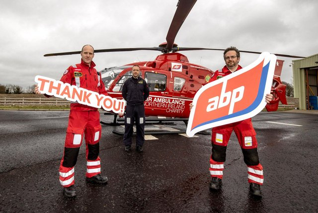 From left: Dr Andrew Topping, Pilot Dave O'Toole and Paramedic David Marshall